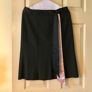 Black skirt with sash